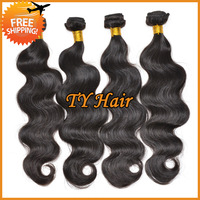 DHL Free Shipping queen hair weave rosa hair products,cheap body wave virgin brazilian hair 4pcs lot remy human hair extension