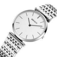 Free delivery of full steel business couples watches