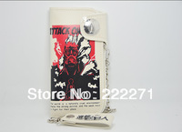 Attack on Titan  PU ANIME Wallet  Mikasa Ackerman Grade Cosplay Costume fine Wallet purse Black White FREE SHIPPING Anime