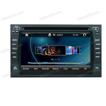 2 din In dash car dvd player with GPS auto radio multi-media OS