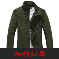 717 - 0137 - plus cotton p85 p90 plus cotton thickening men fashion three-color casual outerwear male jacket