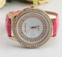 Wholesale Free Shipping 8 colors available women's watches fashion rhinestone diamond watch
