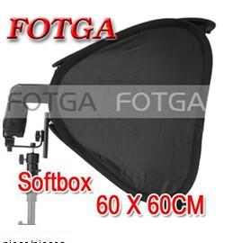 "Wholesale FOTGA 24"" Portable 60cm Softbox Soft Box for Flash Light Speedlite Photo Speedlight(China (Mainland))"