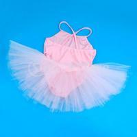 Free Shipping Girl Ballet Dance Dress Gymnastic Leotard Straps Tutu 7-8 Yrs - Pink