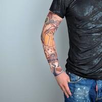 5pcs Nylon Stretchy Temporary Tattoo Sleeve Sunscreen Arm Warmers Body Tattoo Free shipping P002