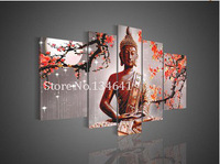 5 Panel Wall Art Religion Buddha hand make painted Oil Painting On Canvas Unique Gift Office Decor Artwork Picture