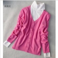3 spring new arrival all-match V-neck female cardigan long-sleeve sweater outerwear
