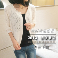 2013 spring all-match sun protection clothing air conditioning shirt long-sleeve sweater female cardigan outerwear
