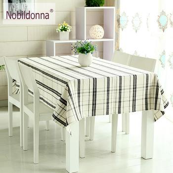 Table cloth brief plaid table cloth coffee table dining table cloth fashion plaid linen fabric tablecloth
