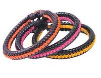 Fashion Delicate Handmade Red Leather Bracelet New 2013 Women Adjustable Jewelry Free Shipping HeHuanSLQ023