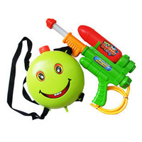 Extra large smiley high pressure backpack water gun baby beach smiley toy plastic water gun  kids toys