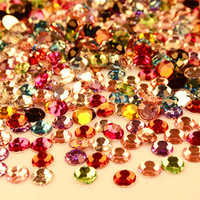 Min.$15 (Mixed Order) 2mm 3mm 4mm 5mm Resin Mixed 10 Colors Flat Bottomed Rhinestones With Free Shipping
