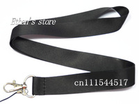 Free Shipping  Solid Black Blank  Key Lanyard  for Customized Printing ID Badge Holders Size 48*2.5cm