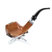 Free Shipping! Green sandalwood glossy ring smoking pipe 9mm wood smoking pipe tobacco   - FREE GIFT BOX