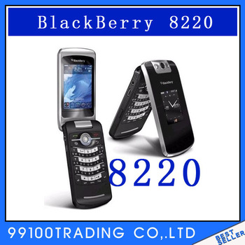 Unlocked BlackBerry Pearl Flip 8220 Cell Phone Bluetooth Free Shipping Refurbished