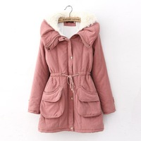 Free Shipping 2013 turn-down collar berber fleece winter outerwear thickening wadded jacket all-match jacket autumn