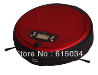 Free Shipping Voice Function Wet and Dry Moping Wet Floor Cleaning Robot  With Timer Set,LCD Screen,Two Side Brush,0.7L Dustbin