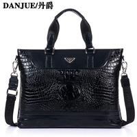 Fashion Black masklike symmetrical commercial briefcase genuine leather man bag suit bags men messenger bags 8721-1