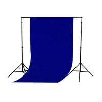 5*10ft/1.5*3M Solid Blue Seamless FlockedCloth Photography Backdrop Background