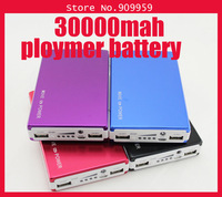 Original Full 30000mAh Power Bank Cellphone External  ploymer Battery Portable Charger for Android Smartphone and Tablet PC