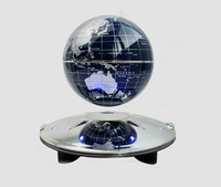Free shipping Magnetic Suspension Levitation Floating black 4 inch Globe World Map with LED Light  Home Decoration