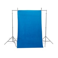 NEW 10*10ft / 3*3M Chroma Key Blue Solid Seamless Muslin Photography Backdrop