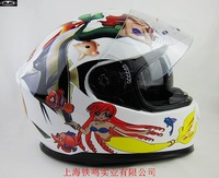 Free shipping/ Cirus brand in HJC / Motorcycle Motorbike helmets/full face helmets with inner visor/HS-800 white fish