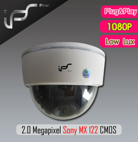 IPS Free Shipping Advanced IP Cameras 0.01 Lux 1080P 2.0 Megapixel Sony MX 122 CMOS 3.6MM Fixed Lens without POE(IPS-HS1821L)