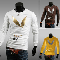 2013 Autumn thick basic slim men o-neck long-sleeve T shirt