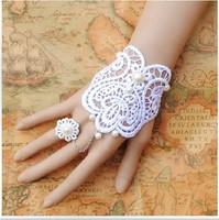 Lace strap retro bride wrist chain bracelet women lace Style Bracelet even ring fashionable shamballa bracelets