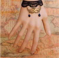 Vintage pearl bracelet crystal lace accessories Female Gothic Princess accessories bracelet