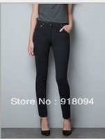 Free Shipping Women  Basic Skinny  Pencil  Pants  Eight  Size