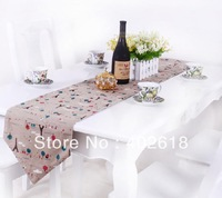 """Free shipping--Fashion Table runner, 5PCS/Lot, Size 30x180CM(12""""*70""""), Embroidery Eiffel/ EU Style, Wedding party decoration"""