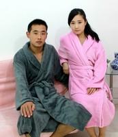 AQ Fashion Lovers male Women coral fleece sleepwear robe coral fleece bathrobe thin thickening