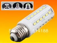 10 pcs/lot CE&Rohs E14 E27 base fitting 42 led 5630 smd dimmable 12w AC110-130v warm / cold white LED candle bulb corn light