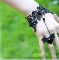 DIY new lace Bracelet Black Wristlet Countess elegant female even ring bracelet rose gold
