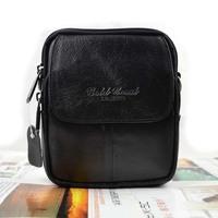 cowhide waist pack male shoulder bag waist pack dual-use package handbag man bag cross-body