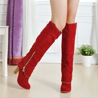 BUENO 2013 hot sale fashion sexy high heel boots women's over-the-knee boot with zipper shoes wholesale HM220