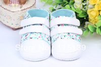 Free shipping! Hot sale 11-13 cm children's shoes baby soft sole printing flower design girls shoes