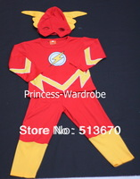 XMAS Christmas Gift The Flash Hero Outfit Boys Kids Party Costume Present 2-7Y MAC24