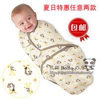 Summer  swaddleme Newborn Baby  Parisarc  Wrap Sleeping Bag Swaddle 100% Cotton  Four Seasons