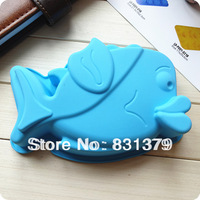 Free shipping DIY Fish shape Silicone Chocolate cake mold/Muffin/Cup Cake/Jelly Candy /Ice /Cupcake Tray/fish soap mold