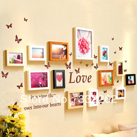 Photos of wall photo wall wood fashion photo frame photo frame wall stickers combination of modern brief