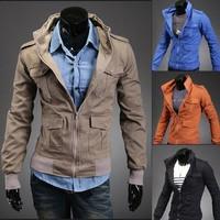 New special for men large size multi-pocket fashion men's jacket  4 color 4 size 122055