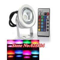 Underwater Lights 10W Waterproof LED Flood Spot Lamp 12V / 85V-265V Warm White / White / RGB