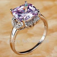 Free Shipping Wholesale Fashion 925 Silver Jewelry Dazzling Tourmaline & White Topaz 925 Silver Ring Women Size 7 8 9 10 11 12