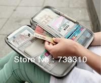 Travel Origanizer Wallet Passport Holder Document Organizer Bag Bank ID Card Wallet 20pcs/lot
