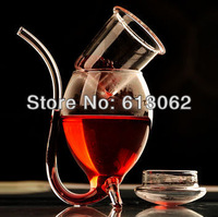 2pcs/lot New arrival creative glass Vamipre sucking wine cup Vampire juice cup support dropping shipping