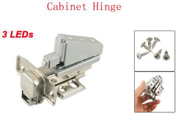 Furniture Cabinet Buffer Metal Concealed Cabinet Hinge w 3 LEDs 2pcs