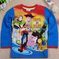 A3198 # Boys cartoon toys Toy Story lovely long sleeve printed T-shirt baby boys tshirts FREE SHIPPING